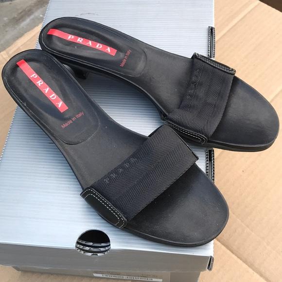 032dbbfaba9 Prada Shoes - Vintage Prada sport 90 s kitten heels size 39.5